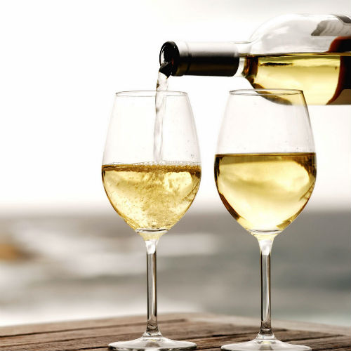 Straw or Hay Colored White Wine